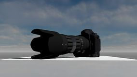 Modell för DSLR-kamera 3D Royaltyfria Bilder
