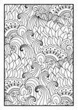 Modell för färgläggningbok Stock Illustrationer