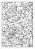 Modell för färgläggningbok Royaltyfri Illustrationer