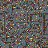 Modell för färgrik lek för anförande sömlös vektor illustrationer