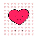 Modell för förälskelsehjärtaformer Stock Illustrationer