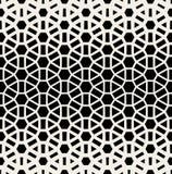Modell för för svart för vektor sömlös rastrerad & vit geometriskt raster Fotografering för Bildbyråer