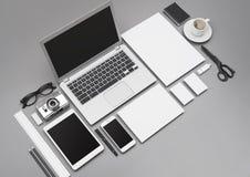 Modell för företags identitet och webdesign Royaltyfria Bilder