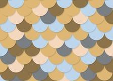 Modell för fiskskala, abstrakt materielvektor, färgtextur, ljus färg, Arkivbilder