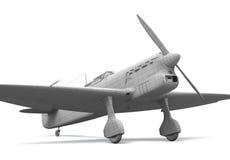 modell för flygplan 3d Arkivbild