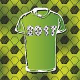 Modell för fotbollmästerskap med t-skjortan Royaltyfri Bild