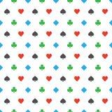 modell för Fyra-färg pokerdräkter Arkivbilder