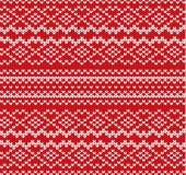 Modell för geometrisk prydnad för rät maska sömlös Handcraft stickade plaggdesignen Stucken textur för tröja för röd färg för vin stock illustrationer