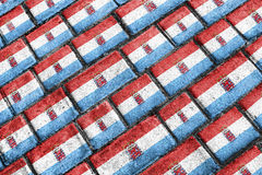 Modell för Grunge för Luxemburgo flagga stads- Arkivbild