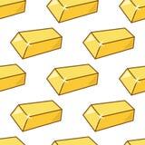 Modell för guld- stänger för guld- stång sömlös Royaltyfria Foton