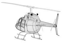 modell för helikopter 3d Royaltyfri Bild