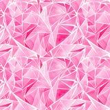 Modell för hjärtor för härlig geometrisk dyrbar crystal grafisk älskvärd konstnärlig mjuk underbar valentin för ferie ljus rosa royaltyfri illustrationer