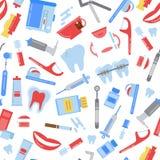 Modell för hygien för tänder för vektorlägenhetstil vektor illustrationer