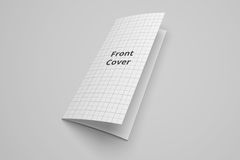 Modell för illustration för broschyr 3D för USA-bokstav trifold med det inget rastret 3 Royaltyfri Fotografi
