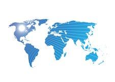 Modell för illustration för världskartavektorabstrakt begrepp Royaltyfria Bilder