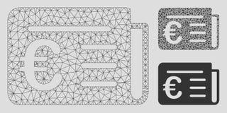Modell för ingrepp för vektor för finansiell nyheterna för euro 2D och mosaisk symbol för triangel royaltyfri illustrationer