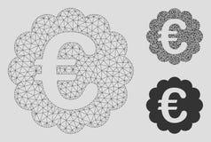 Modell för ingrepp för vektor för kvalitets- skyddsremsa för euro 2D och mosaisk symbol för triangel vektor illustrationer