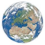 modell för jordEuropa facing vektor illustrationer