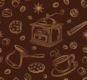 Modell för kaffeuppsättning Arkivbilder