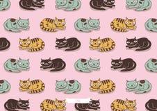 Modell för kattfamilj Royaltyfri Illustrationer