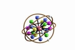 Modell för kemisk bindning. Arkivbild