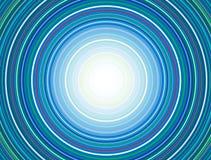 Modell för koncentriska cirklar, blått vektor illustrationer
