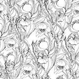 Modell för konstverkvektorblomma royaltyfri illustrationer