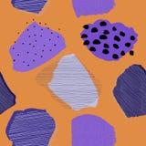 Modell för kontrast för bär för collagesamtidaabstrakt begrepp sömlös stock illustrationer