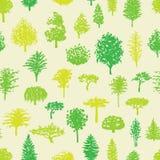 Modell för konturer för skogträd sömlös Arkivfoto