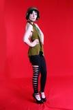 Modell för krigTid mode Royaltyfri Foto