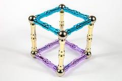 modell för kub 3d Royaltyfria Bilder