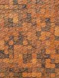 Modell för lerategelplattavägg Arkivfoto
