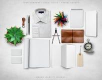 Modell för märkesidentitet Arkivbild