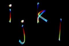 Modell för målning för alfabet ljust frambragd färgrik abstrakt begrepp för bakgrund och design Fotografering för Bildbyråer