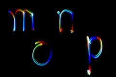 Modell för målning för alfabet ljust frambragd färgrik abstrakt begrepp för bakgrund och design Arkivfoto