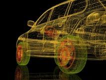 modell för maskin 3d Arkivbilder