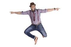 Modell för mode för ung man för afrikansk amerikan i hatt Royaltyfria Foton