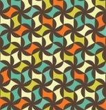 Modell för modern sömlös färgrik geometri för vektor blom- Fotografering för Bildbyråer