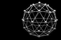 modell för molekyl 3d Royaltyfria Bilder