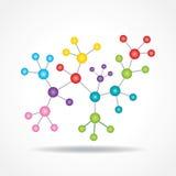 modell för molekyl för atom- struktur för eco 3d kemisk Arkivbild