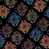 Modell för mosaik för abstrakt sömlös tegelplatta för vektor flerfärgad Royaltyfri Fotografi