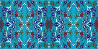 Modell för mosaisk tegelplatta, islamiskt motiv arkivfoton