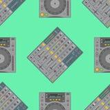 Modell för musikalisk utrustning för vektor sömlös Arkivbild