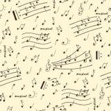 Modell för musikaliska beståndsdelar för klotter sömlös Arkivbild