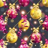Modell för nytt år med bollen Kan användas som den hälsningkort eller räkningen Royaltyfri Bild