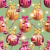 Modell för nytt år med bollen Kan användas som den hälsningkort eller räkningen Royaltyfria Bilder