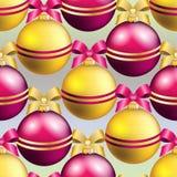 Modell för nytt år med bollen Kan användas som den hälsningkort eller räkningen Royaltyfria Foton