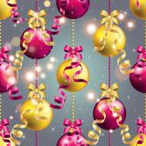 Modell för nytt år med bollen Kan användas som den hälsningkort eller räkningen Arkivbilder