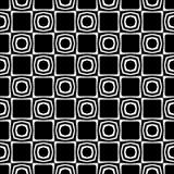Modell för oktogon och för romb för vektor svartvit abstrakt sömlös royaltyfri illustrationer