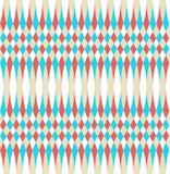Modell för op konst för abstrakt vektor sömlös Färgplumskonst, grafisk prydnad Optisk illusion som upprepar textur stock illustrationer